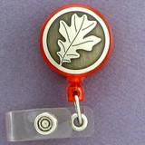 Oak Leaf Retractable I.D. Card Badge Holders