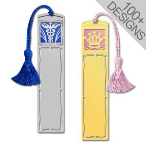 Long Engraved Tasseled Bookmarks