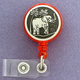 Elephant ID Name Badge Holders
