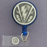 Lightning Bolt Badge Holders