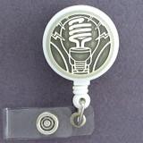 Fluorescent Light Bulbs ID Badge Holders
