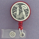 Lipstick Retractable ID Card Holder Reels