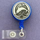 Dolphin Retractable ID Badge Holder Reel