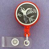 Parrot Retractable Name ID Badge Holder Reel
