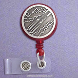 Unique Skiing ID Badge Holder Reel
