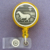 Cool Wild Mustang Horse Retractable ID Badge Holders