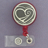 Heart Retractable ID Badge Holders