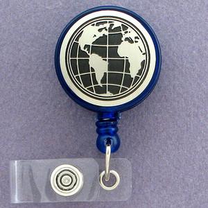 World Maps ID Badge Holders