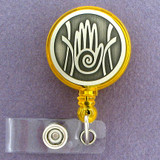 Hand Retractable Round I.D. Badge Holder Reel