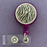 Animal Stripes Pull-out ID Badge Holder Reel