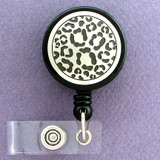 Leopard Spots Retractable Name ID Badge Holders