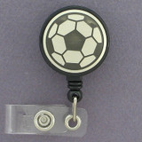 Soccer Balls ID Badge Holders