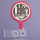 Baking Retractable ID Badge Holder