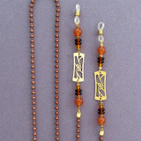 Art Nouveau Designer Aluminum Glasses Chain Holders