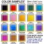 Vertical business card holder colors behind metal designs