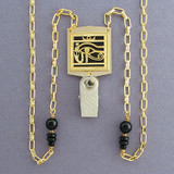 Egyptian Eye Badge Holder Necklaces or Eyeglasses Chains