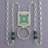 Bike Wheel Beaded Lanyard Necklace or Glasses Holder