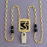 Om Symbol Jewelry ID Badge Lanyard or Glasses Chain