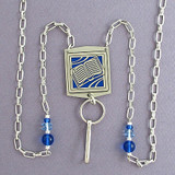 Book Badge Holders Necklaces or Eyeglasses Chains