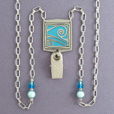 Ocean Wave ID Badge Holder Necklaces or Glasses Chains