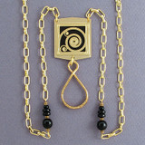 Spirals Beaded ID Badge Jewelry Necklaces or Glasses Chains