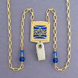 Jewish Star Beaded Necklace Lanyard or Glasses Holder