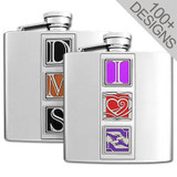Design Your Own 6 Oz Flask Personalized with 3 Images