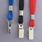 Woven Badge Lanyards with Badge Clips