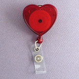 Red Heart Retractable ID Name Badge Holders
