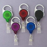 Carabiner Retractable Name Badge Holders