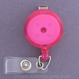 Hot Pink Retractable ID Name Badge Holders