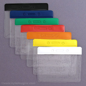 Horizontal Color Plastic Name Badge Card Holders