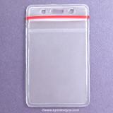 Clear Vinyl Vertical Resealable Badge Holder Pockets