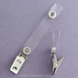Name Badge Holder Clips with Long Plastic ID Straps