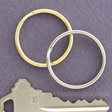 1.25'' Round Split Key Ring Loops