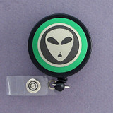 Green Alien Badge Reel