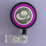 Fuchsia Hat Themed Badge Reel