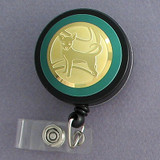 Gold Chihuahua Badge Reel