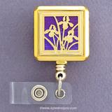 Purple Florist Badge Holder Reel