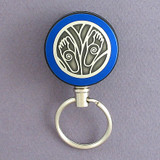 Blue Feet Retracting Key Chain