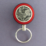 Red Rooster Retractable Key Reel