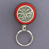 Red Helicopter Retractable Key Reel for Pilots