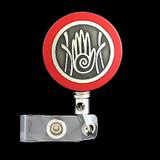 Hand Steel Cord Name Badge Holders