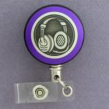 Purple Headset Badge Reel