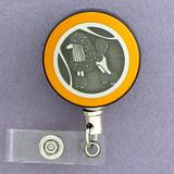 Yellow Poodle Badge Reel