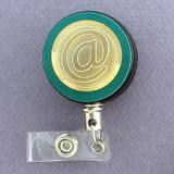 Gold At Sign Badge Reel