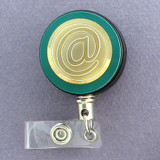 Gold At Sign Badge Reel