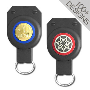 Heavy Duty Retractable Key Rings with Design
