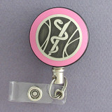 Pink Medical Emblem Badge Reel
