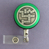 Green Domino Badge Reel